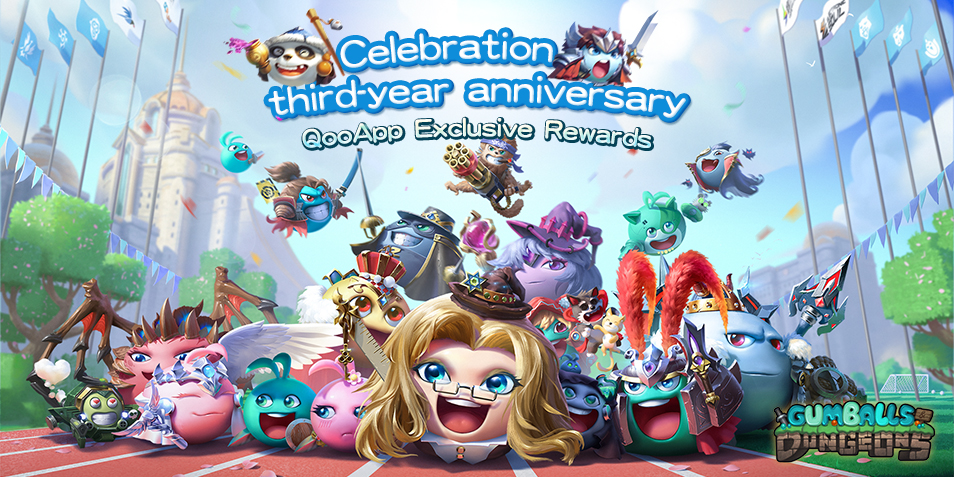Gumballs & Dungeons 3rd Anniversary! Exclusive Gifts Only for You!
