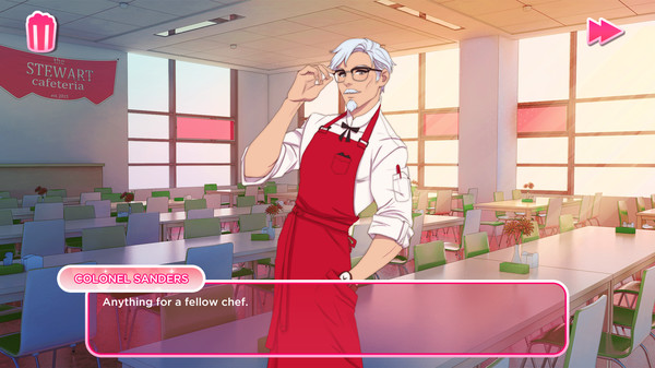 Screenshot 1: I Love You, Colonel Sanders! A Finger Lickin' Good Dating Simulator